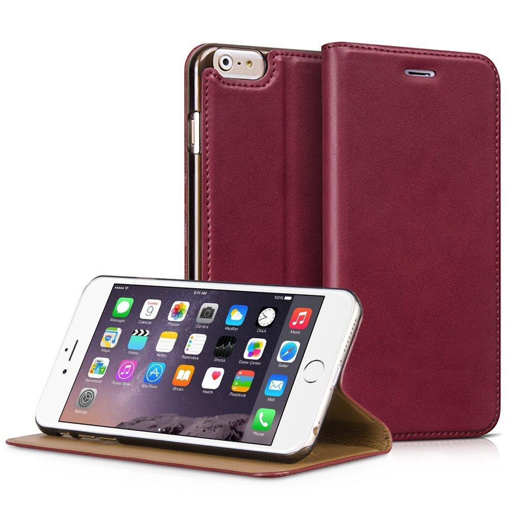 iPhone 6s Plus Case, iVAPO iPhone 6s Plus Leather Case with 1 Card Slot, Magnetic Flip Case