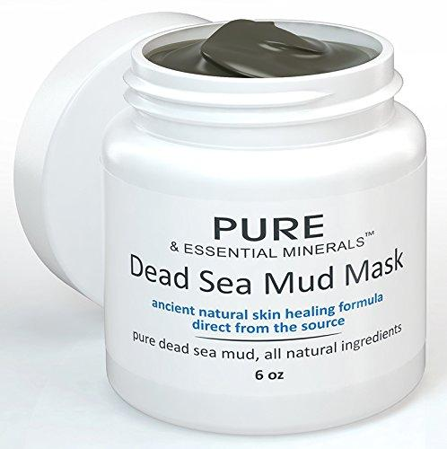 $12.97 BEST Dead Sea Mud Facial Mask + FREE BONUS EBOOK - Cleansing Acne & Pore Reducing Anti Aging Mask for Clear, Radiant Skin - 6 oz