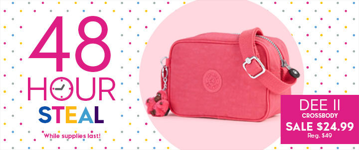 Up to 50% Off 48 Hours Steals @ Kipling USA