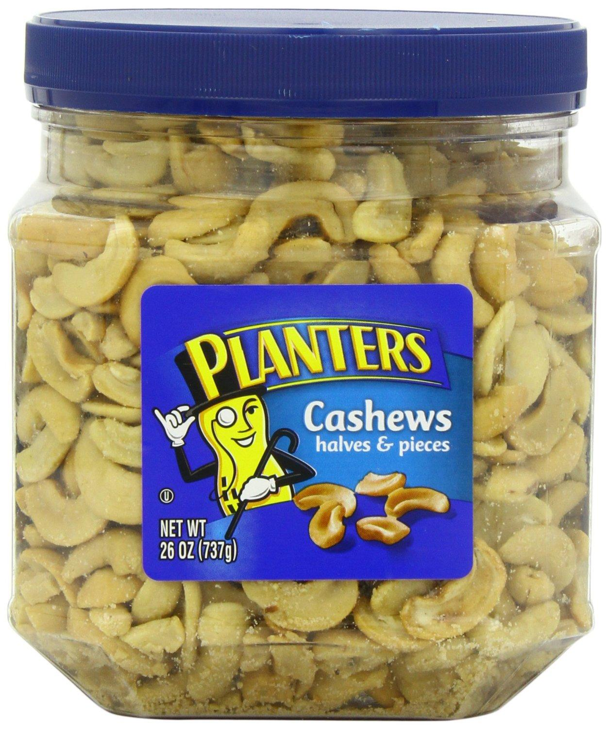 $7.59 Planters Cashew Halves and Pieces Jar, 26 Ounce