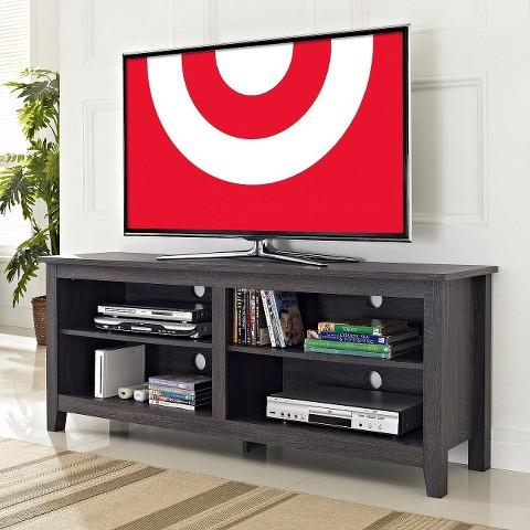 """$79.78 58"""" Weathered Wood TV Stand"""