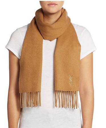 Yves Saint Laurent Cashmere Scarf  (2 colors available)