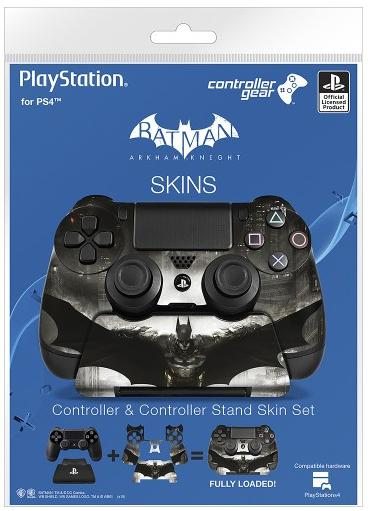 0.99 Controller Gear - Batman: Arkham Knight Controller and Controller Stand Skin Set for PlayStation 4