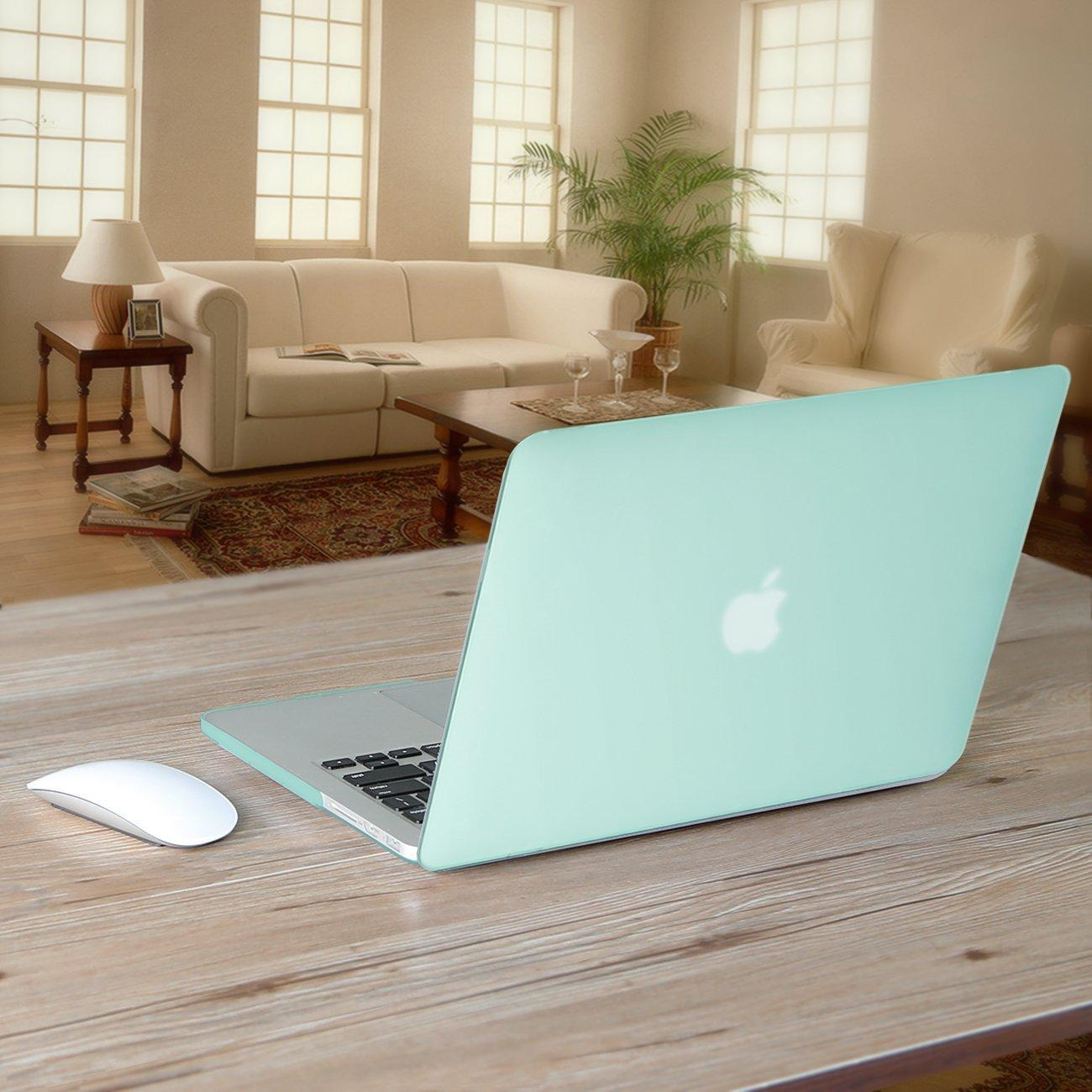 """$11.99 Inateck 13-inch Soft-touch Hard Shell Case Cover for 13.3"""" MacBook Pro Retina, Mint Green"""