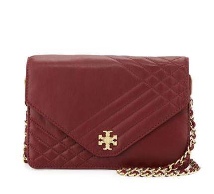 Tory Burch Kira Quilted Crossbody Bag, Red Agate @ Neiman Marcus