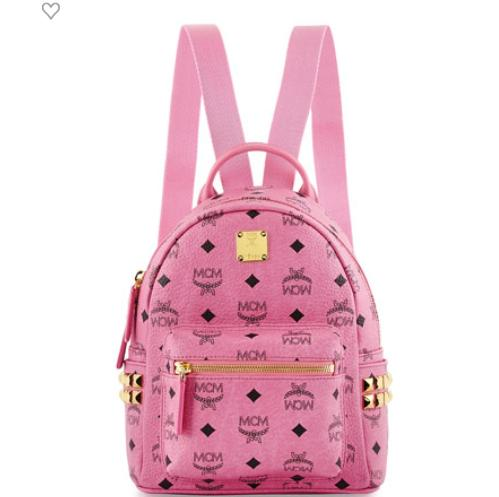 MCM Stark Side-Stud Mini Backpack, Pink @ Neiman Marcus