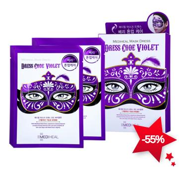 Mediheal Mask Dress Code Violet 1box, 10pcs On Sale @ COSME-DE.COM