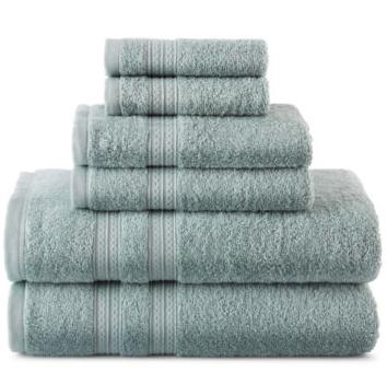 $14.99 Home Expressions™ 6-pc. Solid Bath Towel Set