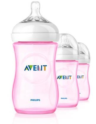 3-Pack Philips AVENT Natural 9 Ounce Bottles