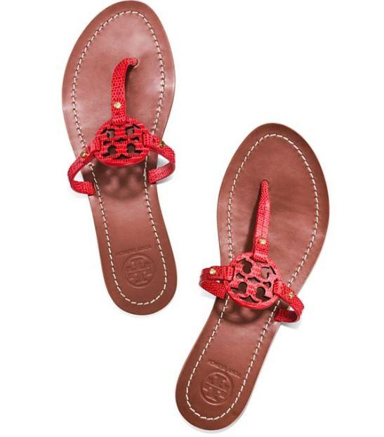 Last Day! MINI MILLER FLAT THONG SANDAL @ Tory Burch