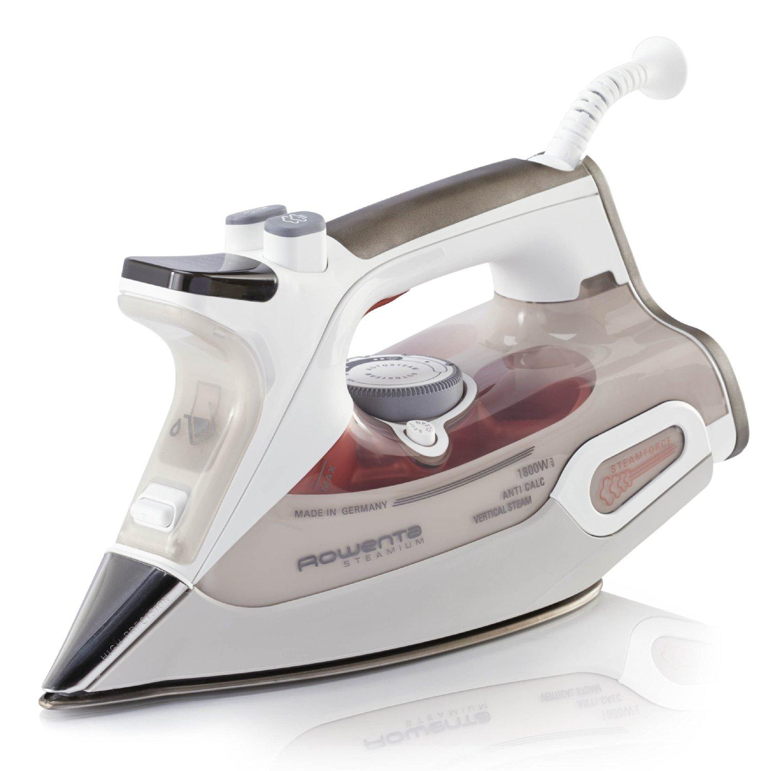 Rowenta DW9081 Steamium Steam Iron Auto Shut off with 400-hole Stainless Steel Soleplate, 1800-Watt