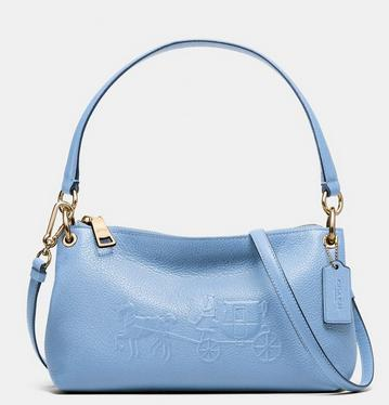 COACH Embsd Horse and Carriage Charley Crossbody