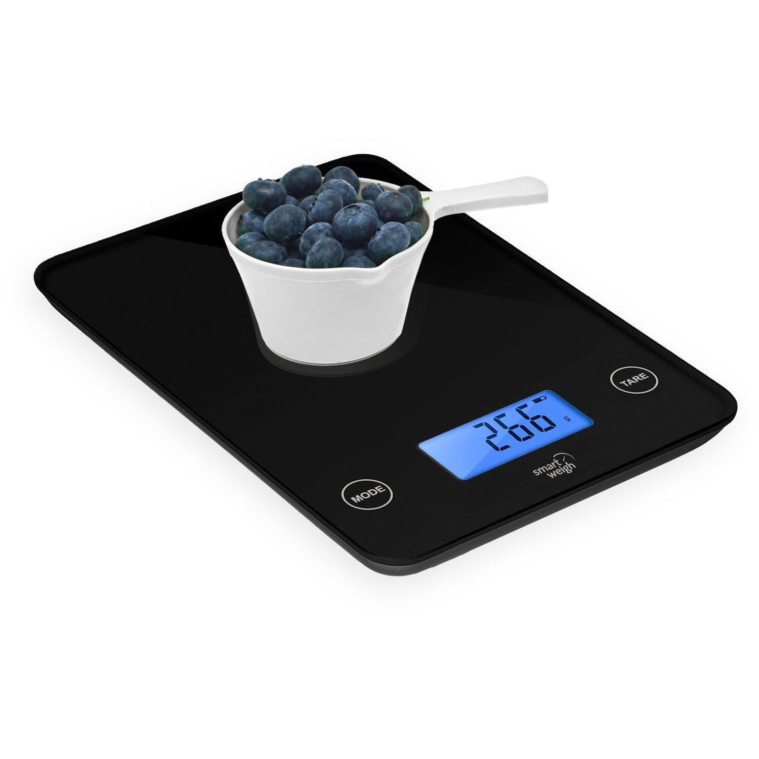 Smart Weigh Digital Food & Kitchen Scale, Sleek Glass Platform