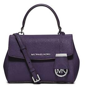 MICHAEL MICHAEL KORS Ava Leather Crossbody Satchel @ Lord Taylor