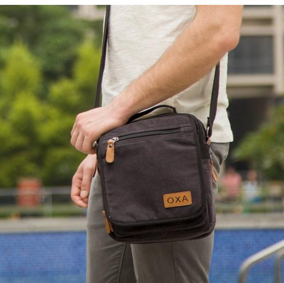 OXA Durable Vintage Canvas Shoulder Messenger Casual Sling Bag