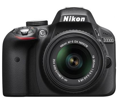 (Factory Refurbished) Nikon D3300 24.2MP DSLR with 18-55mm VR II/+ 55-200mm VR  Lens