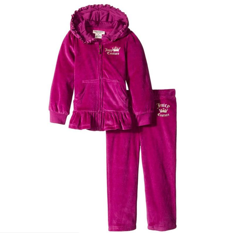 Juicy Couture Little Girls' Purple Hooded Set