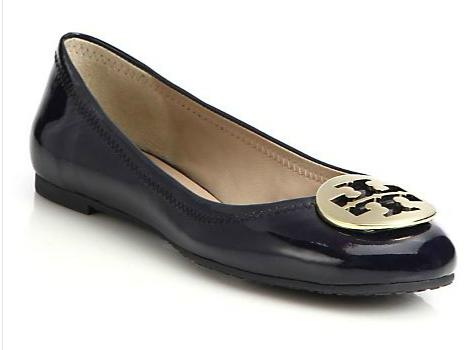 Tory Burch Reva Patent Leather Ballet Flats