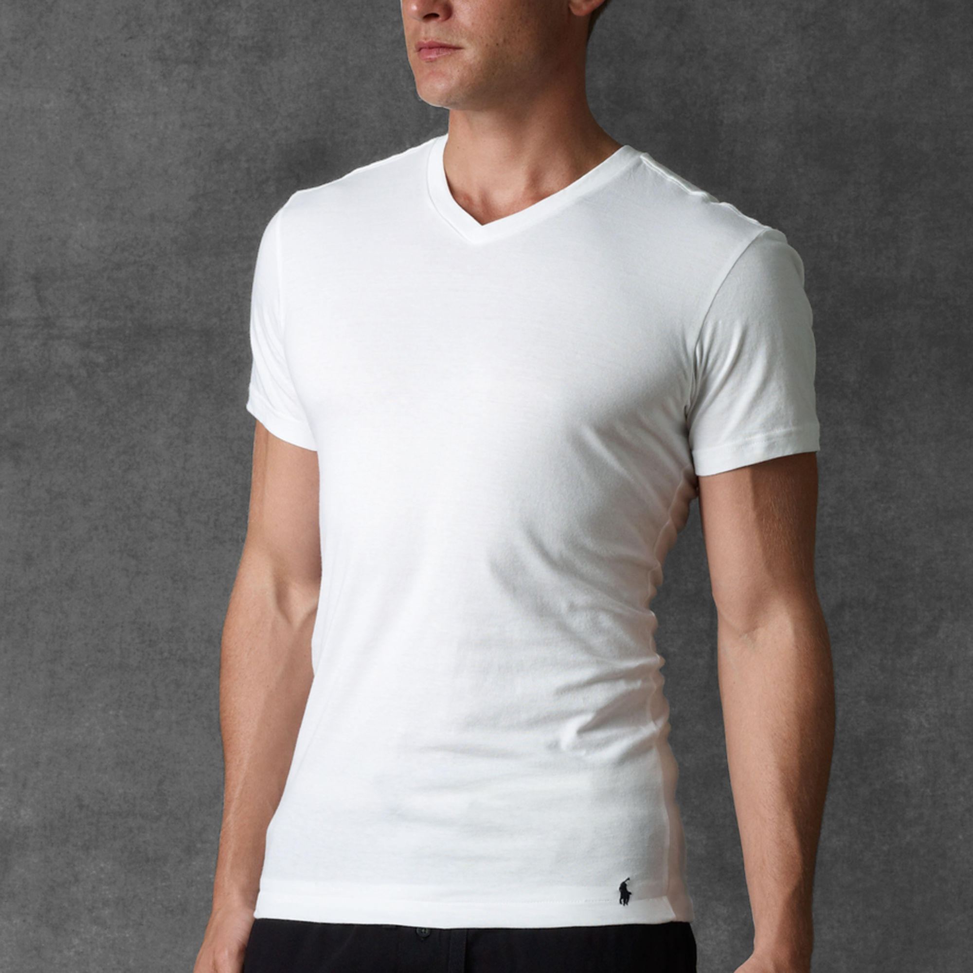 Slim-Fit V-Neck Three-Pack @ Ralph Lauren