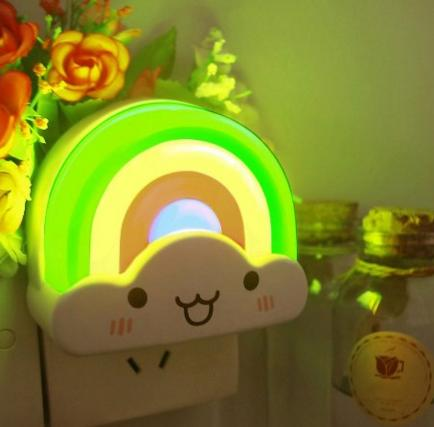 Zitrades Baby Night Light Rainbow Toddler Nightlight for Kids with Sensor