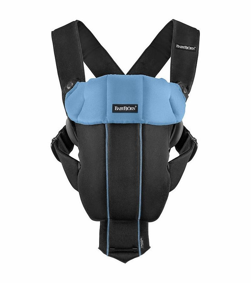 BabyBjorn Baby Carrier Original - Black / Light Blue