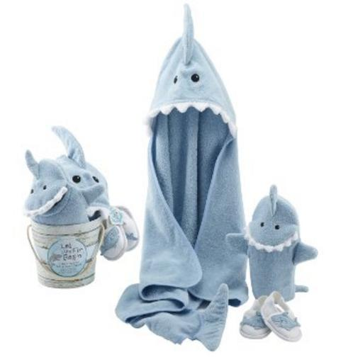 $29.58 Baby Aspen Four-Piece Gift Set, Let the Fin Begin, Blue