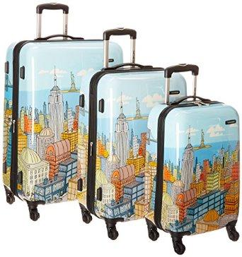 Samsonite Nyc Cityscapes 3 Piece Set 20/24/28, Blue Print