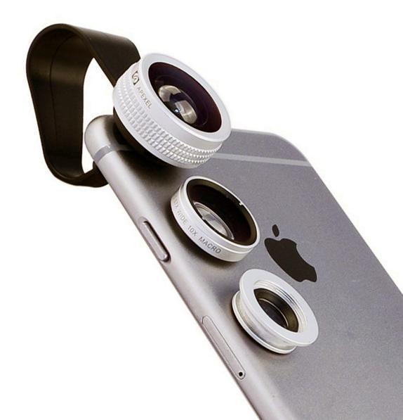 Apexel 3 in 1 Clip-On Camera Photo Kit For Apple iPhone