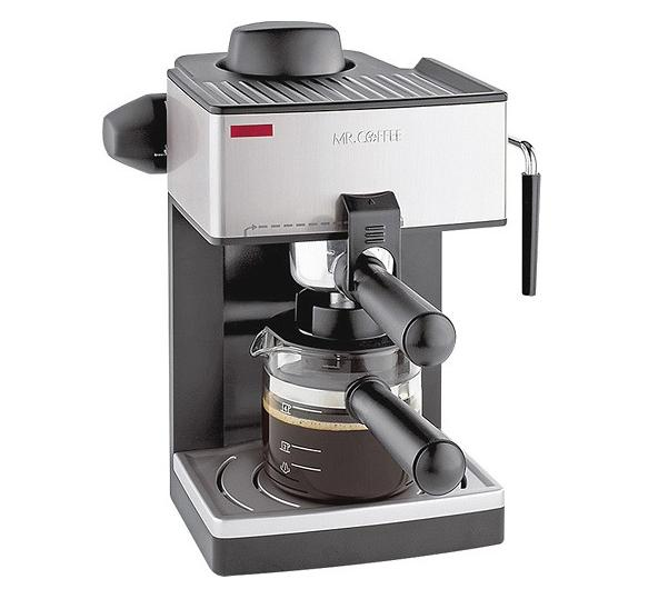 Mr. Coffee - Steam Espresso Machine - Black/Silver @ Best Buy