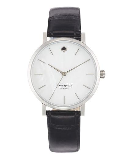 kate spade new york 'metro' embossed leather strap watch, 34mm @ Nordstrom