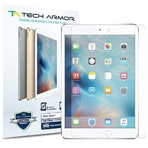 Tech Armor Apple iPad Mini 4 High Defintion Clear Screen Protectors [2-Pack]