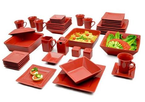 10 Strawberry Street Nova Square Banquet 45-Piece Dinnerware Set, 6 Colors Available