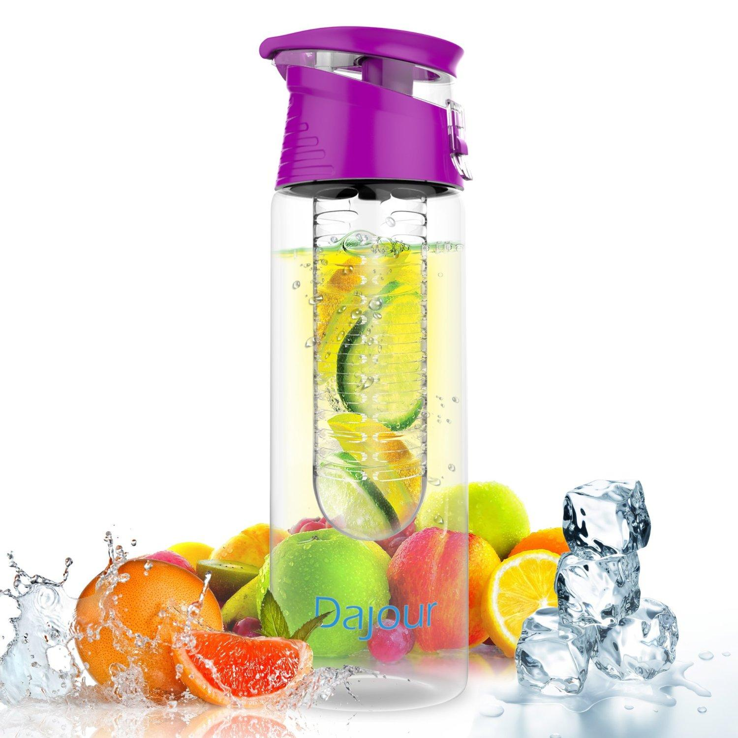 Fruit Infuser Water Bottle NO BPA Sports Flavor Infusion Bottle, 27 or 32 Ounce
