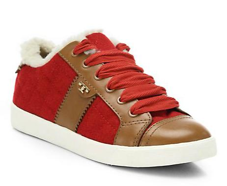 Tory Burch Oliver Mixed-Media Sneakers