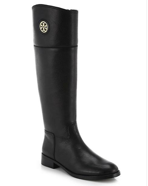 Tory Burch Junction Medallion Leather Boots