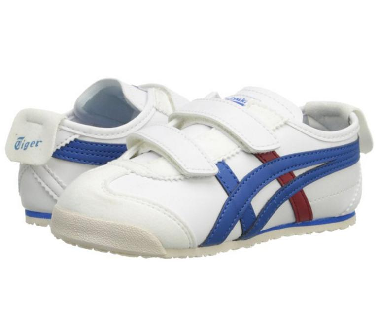 Onitsuka Tiger Mexico 66 Baja TS Fashion Sneaker ,White/Blue,4 M US Toddler