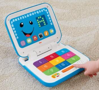 Fisher-Price Laugh and Learn Smart Stages Laptop, Blue/White @ Amazon.com
