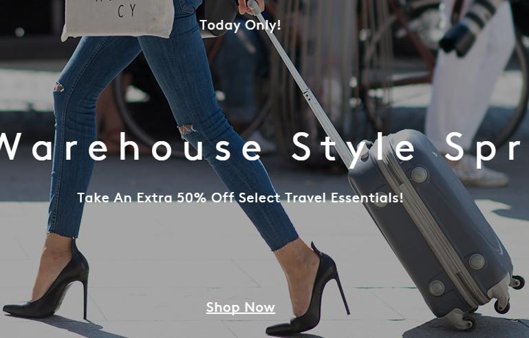 Extra 50% Off Travel-Ready Style at Barneys Warehouse