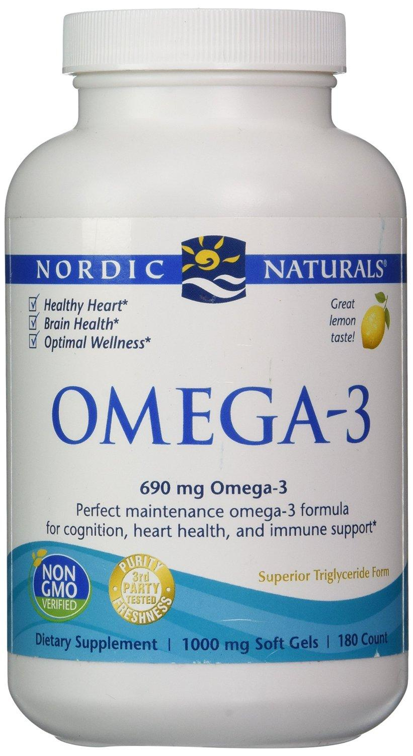 Nordic Naturals - Omega-3, Cognition, Heart Health, and Immune Support, 180 Count