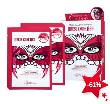 Mediheal Mask Dress Dress Code Red 1box, 10pcs On Sale @ COSME-DE.COM