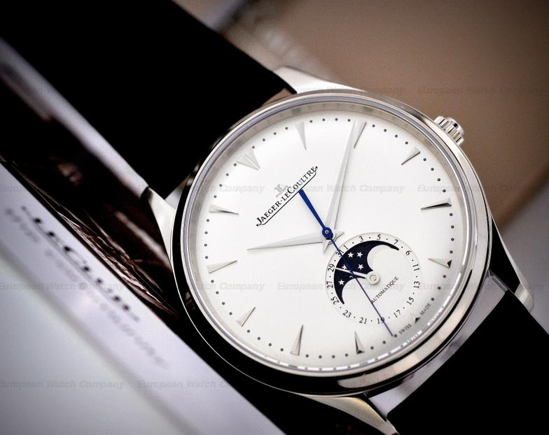 Jaeger LeCoultre Master Silver Dial Leather Men's Watch Q1368420