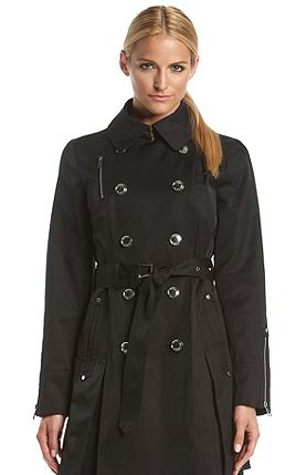 MICHAEL Michael Kors® Double-Breasted Belted Trench Coat