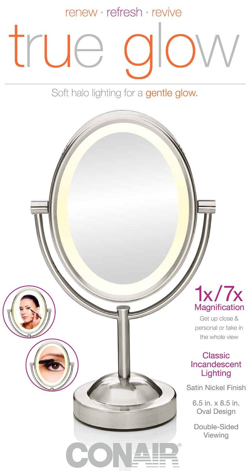 $19.98 Conair Oval Double-Sided Lighted Makeup Mirror