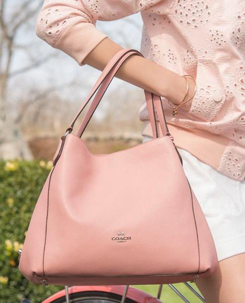 COACH 'Edie' Pebbled Leather Shoulder Bag @ Nordstrom