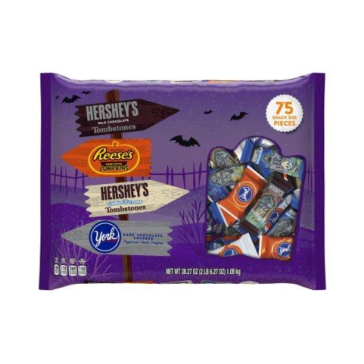 $6.6 Hershey's Halloween Snack Size Assortment, 75-Count Bag