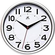Infinity Instruments 14220SV-3364 Metro Resin Analog Wall Clock