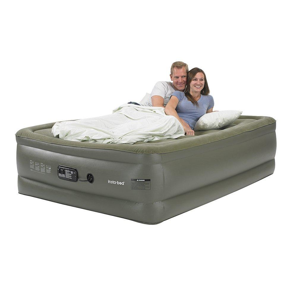 Insta-Bed Queen Raised Air Mattress with Sure Grip Bottom & Built-In Pump