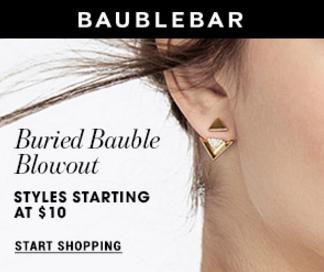 From $10 Buried Bauble Blowout Sale at BaubleBar