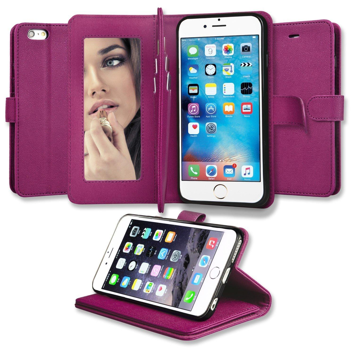 Abacus24-7 iPhone 6S Plus Mirror Wallet Case