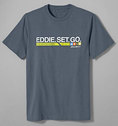 Eddie Bauer Men's Graphic T-Shirt - Eddie. Set. Go.